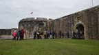 Guests arriving at Hurst Castle for the New Forest Remembers World War II Project celebration event