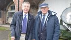 Brothers Terry and Brian Gittoes who as children made friends with American sailors stationed in the New Forest