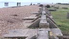 Lepe beach and the remains left where parts of the Mulberry harbours were manufactured ahead of D-Day in 1944