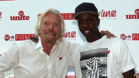 Jamal Edwards with Sir Richard Branson