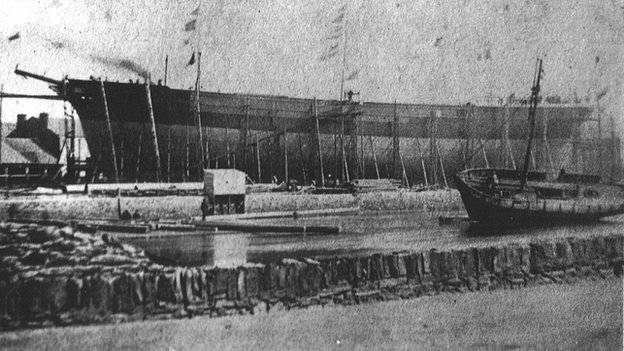 The Euterpe launch, 1863