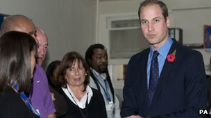 Duke of Cambridge at St Giles Trust