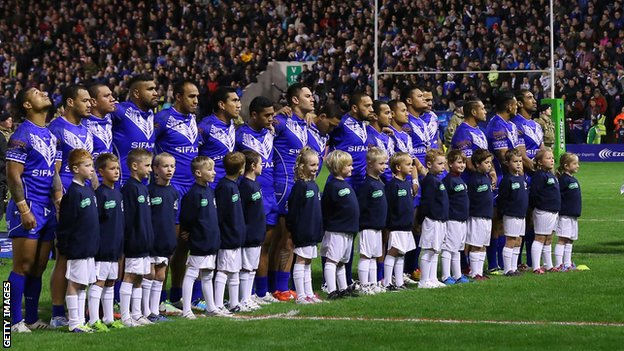 The Rugby League World Cup Group B match between New Zealand and Samoa attracted a full house at Warrington's Halliwell Jones Stadium