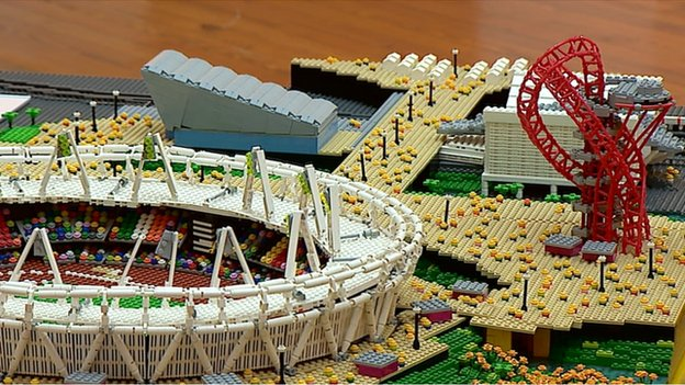 The Olympic Park from last year's London games is another of the models