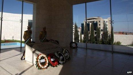 Arafat's tomb in Ramallah (file image)