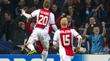 Lasse Schone celebrates Ajax's winner against Celtic