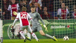 Lasse Schone scores for Ajax