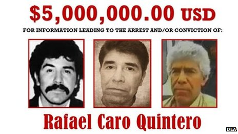 Reward offer for Rafael Caro Quintero