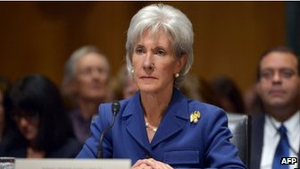 US Health and Human Services Secretary Kathleen Sebelius testified before the Senate Finance Committee on 6 November 2013