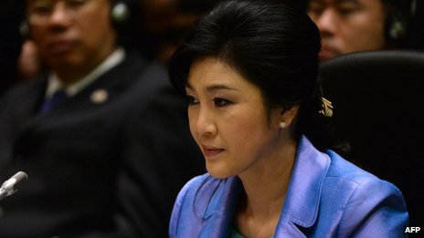 File photo: Thai Prime Minister Yingluck Shinawatra