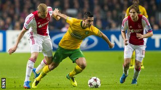 Beram Kayal in action for Celtic against Ajax