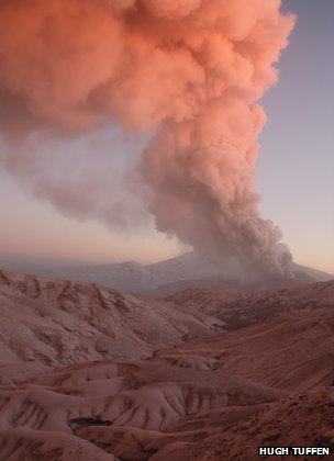 Cordon Caulle volcano in Chile