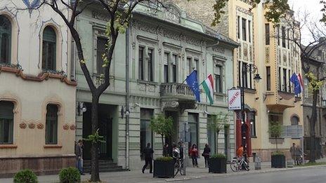 Hungarian consulate in Subotica, Serbia