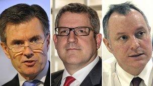 Sir John Sawers, Andrew Parker, Sir Iain Lobban