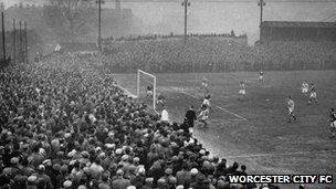 Worcester City v Liverpool in the 1959 FA Cup