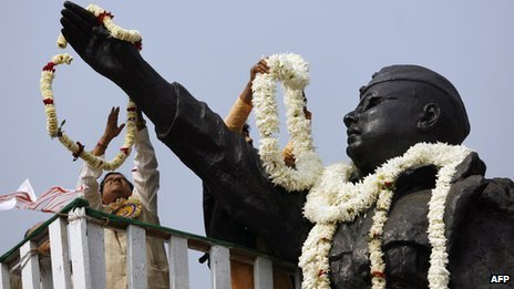 Statue of Subash Chandra Bose in Calcutta