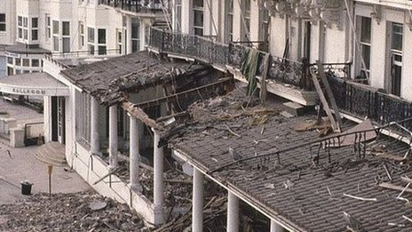 Grand hotel Brighton after the 1984 bomb