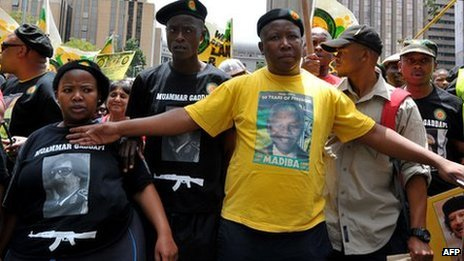 Julius Malema during an ANCYL rally in 2011