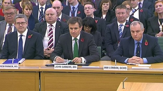 Andrew Parker, John Sawers and Iain Lobban