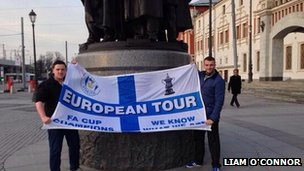 Wigan fans in Russia