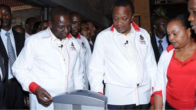President Uhuru Kenyatta logs his details