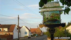 Thornham village sign