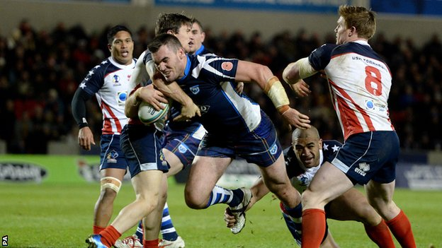 Scotland beat USA 22-8 in Salford