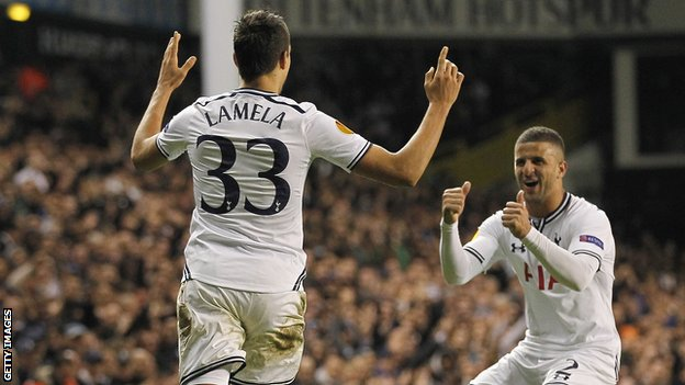 Erik Lamela in action for Tottenham