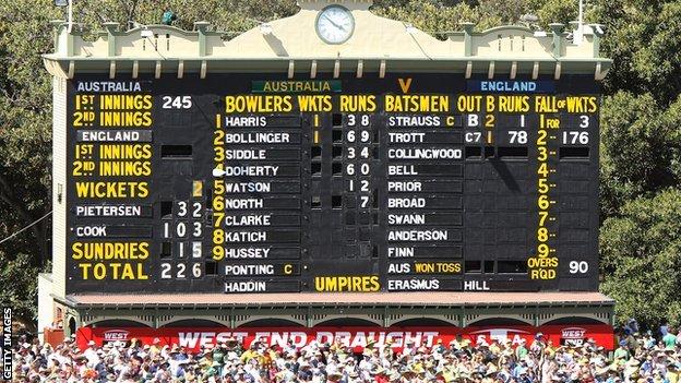 The Adelaide Oval scoreboard in 2010