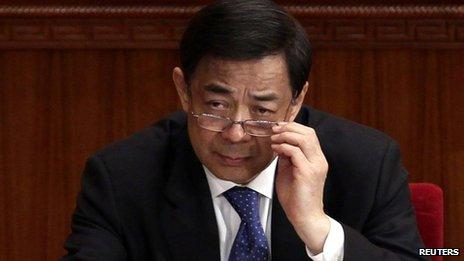 File photo: Bo Xilai in Beijing on 3 March 2012 file photo