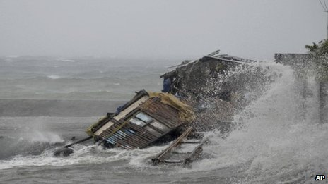 House engulfed by typhoon in Albay province
