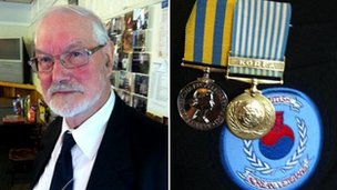 Dennis Tunstall and his medals