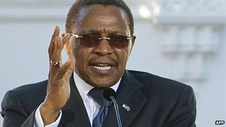 Tanzanian President Jakaya Kikwete  - July 2013