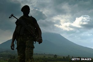 soldier in DR Congo