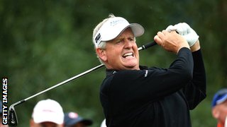 Colin Montgomerie in action at the Turkish Airlines Open