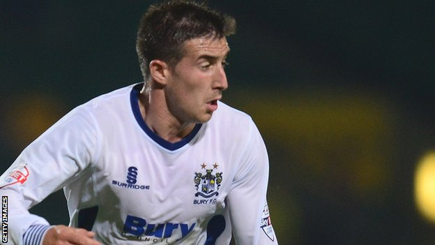 Bury winger Craig Jones