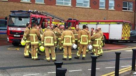 Fire crews at Harrogate Hospital