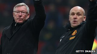 Sir Alex Ferguson and Mike Phelan