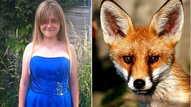 """Jessica Lambert's parents at first thought she was """"dreaming"""" when she  reported the visiting fox"""