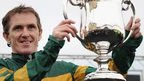 AP McCoy celebrates his 4000th career victory at Towcester