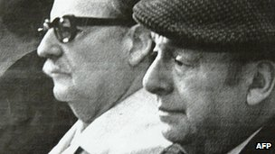 Neruda and President Salvador Allende (undated image)