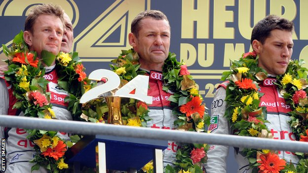 Allan McNish, Tom Kristensen and Loic Duval