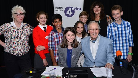 Just a Minute with Jenny Eclair, Josie Lawrence, Nicholas Parsons and junior contestants