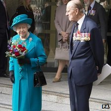 The Queen and Duke of Edinburgh at the opening of the SSAFA HQ in London