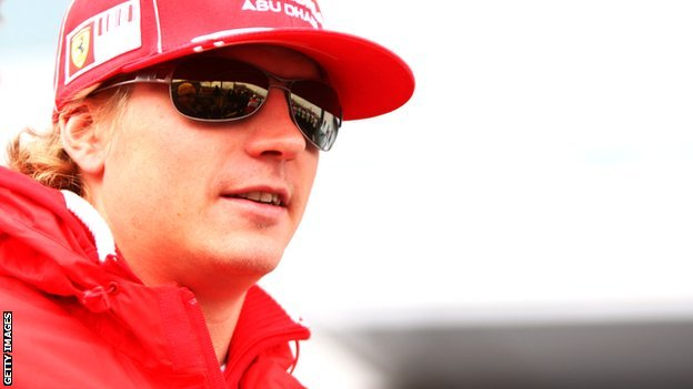 Kimi Raikkonen at Ferrari in 2009