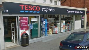 Tesco Express in Charminster Road