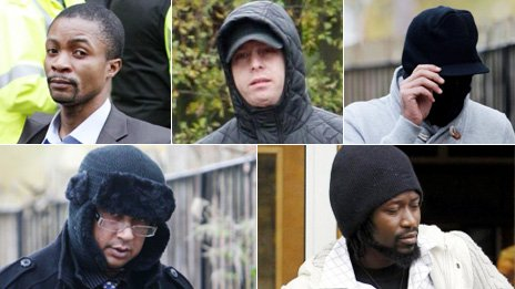 Five men from Rochdale who groomed a teenage girl