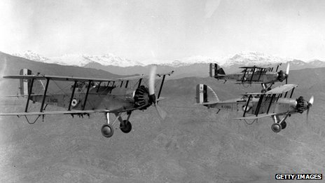 Royal Air Force Westland Wapitis carry out a reconnaissance flight over the mountains of Kurdistan, March 1934