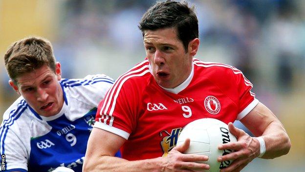 Tyrones's Sean Cavanagh in action against Monaghan