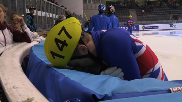 GB male speed skater disappointed with performance
